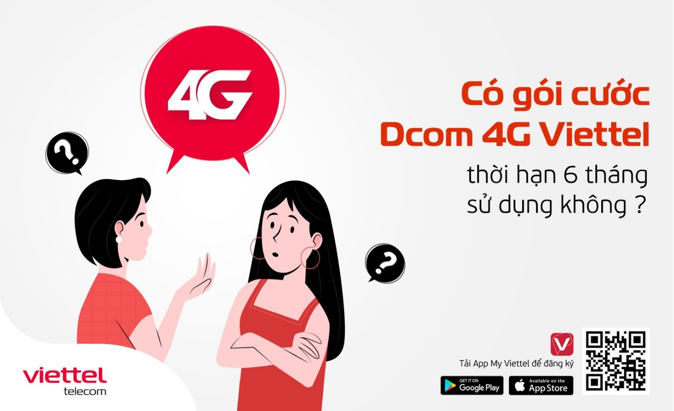 Có gói cước Dcom 4G Viettel nào thời hạn sử dụng lên tới 6 tháng?