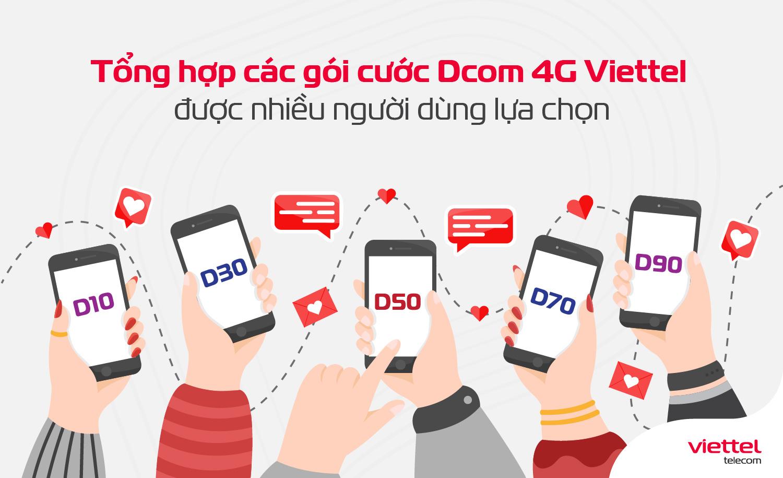 Tổng hợp các gói cước Dcom 4G Viettel được nhiều người dùng lựa chọn