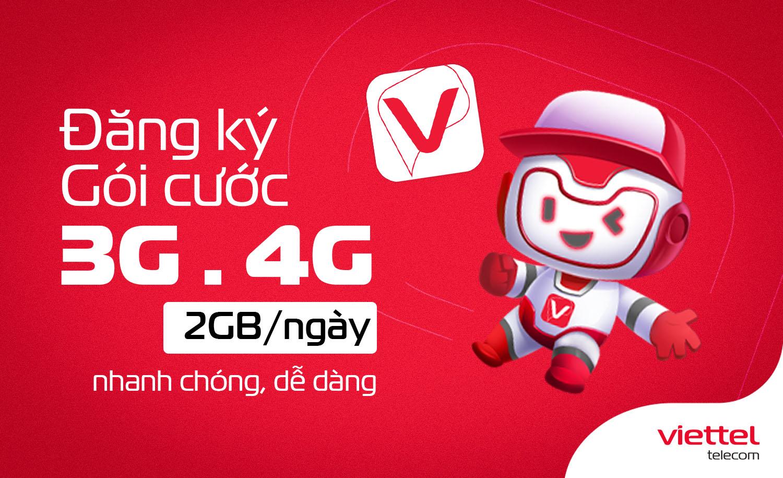 Hướng dẫn cách đăng ký gói cước data 3G/4G Viettel với 2GB/ngày nhanh nhất