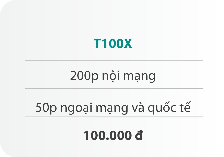 Gói cước T100X