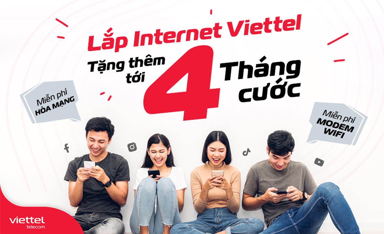 Gói cước combo internet truyền hình Viettel