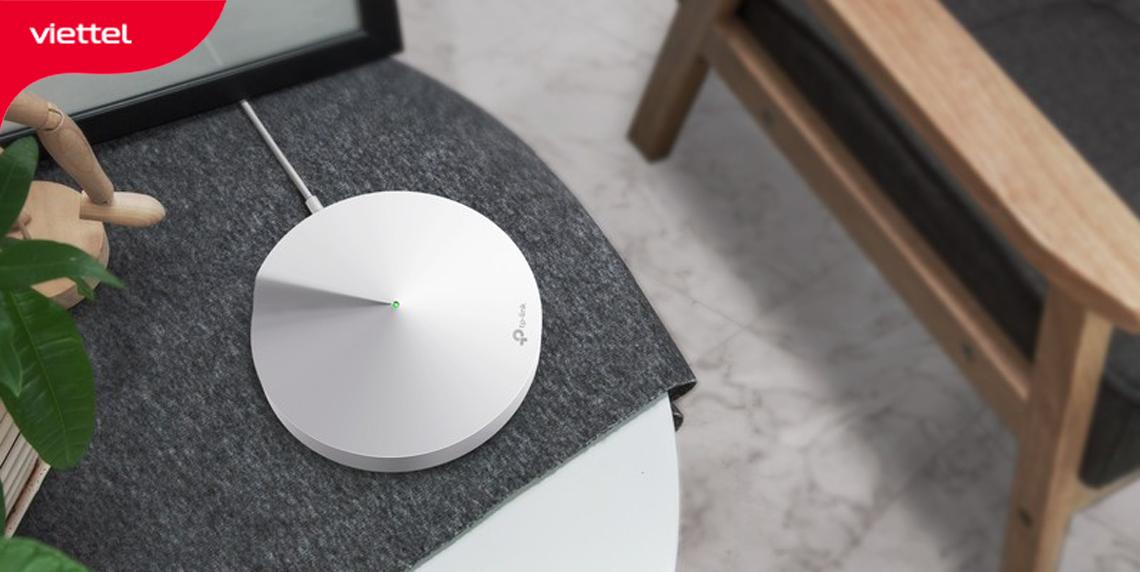 Hệ thống Wifi Mesh Tp Link Deco M5 nổi bật với điểm nhấn thiết kế hình đĩa.