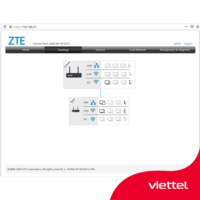 Cài đặt Home Wifi Viettel thành công