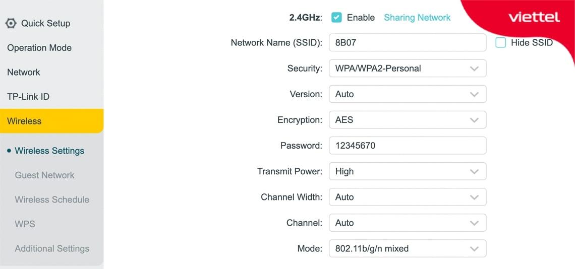 Cài đặt mạng Wifi cho Router phụ