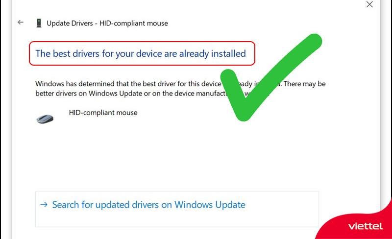 Cập nhật lại drive tương thích với laptop