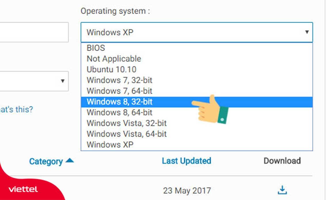 Chọn hệ điều hành Win 8