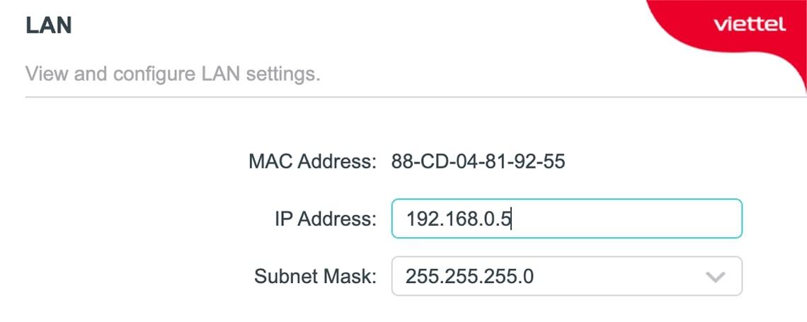 Gán địa chỉ IP cố định cho Router Wifi phụ