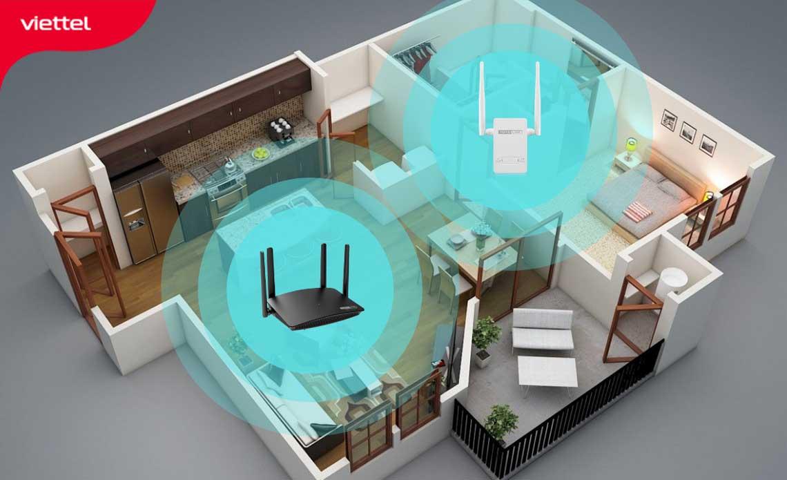 Giải pháp Wifi cho chung cư sử dụng Repeater mở rộng sóng