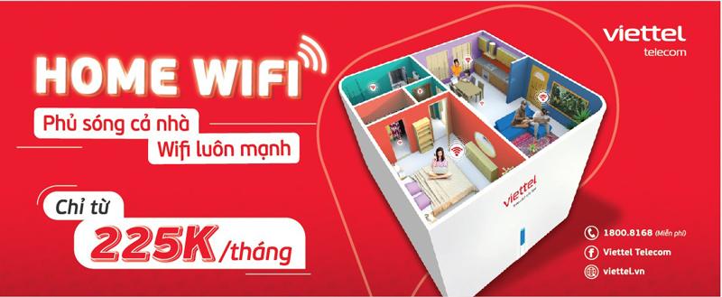 Lắp thêm thiết bị Home Wifi Viettel giúp mở rộng vùng phủ sóng của mạng wifi