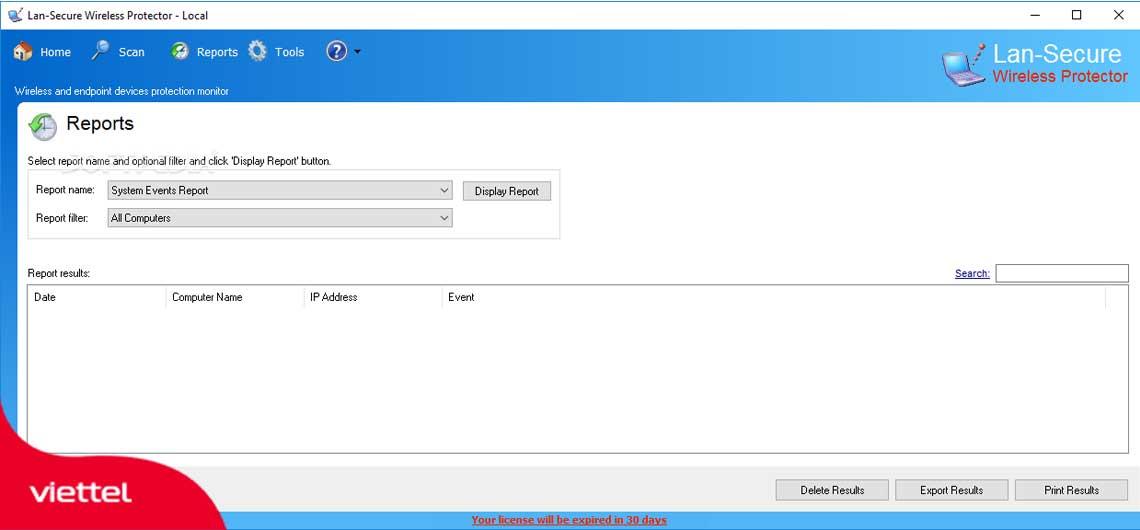 Lan Secure Wireless Protector Workgroup là phần mềm quản lý mạng Lan.