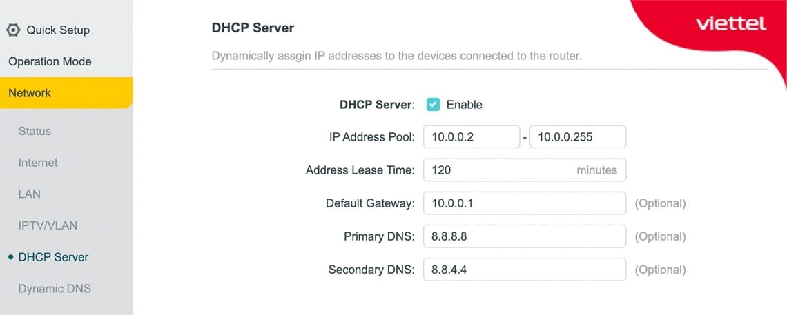 Thay đổi IP nếu trùng với dãy IP mà Router chính đang cấp phát