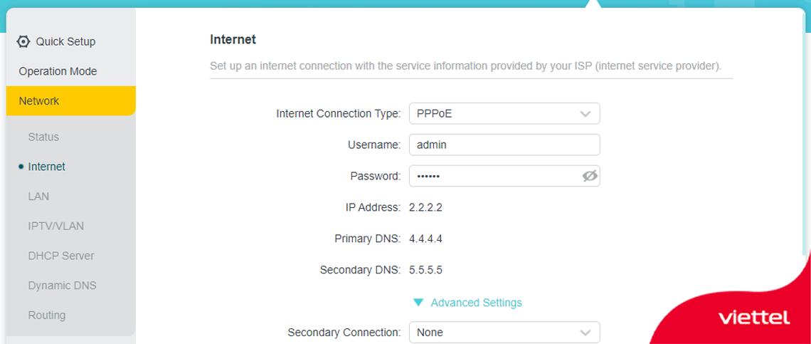 Thực hiện quay PPPoE trên router