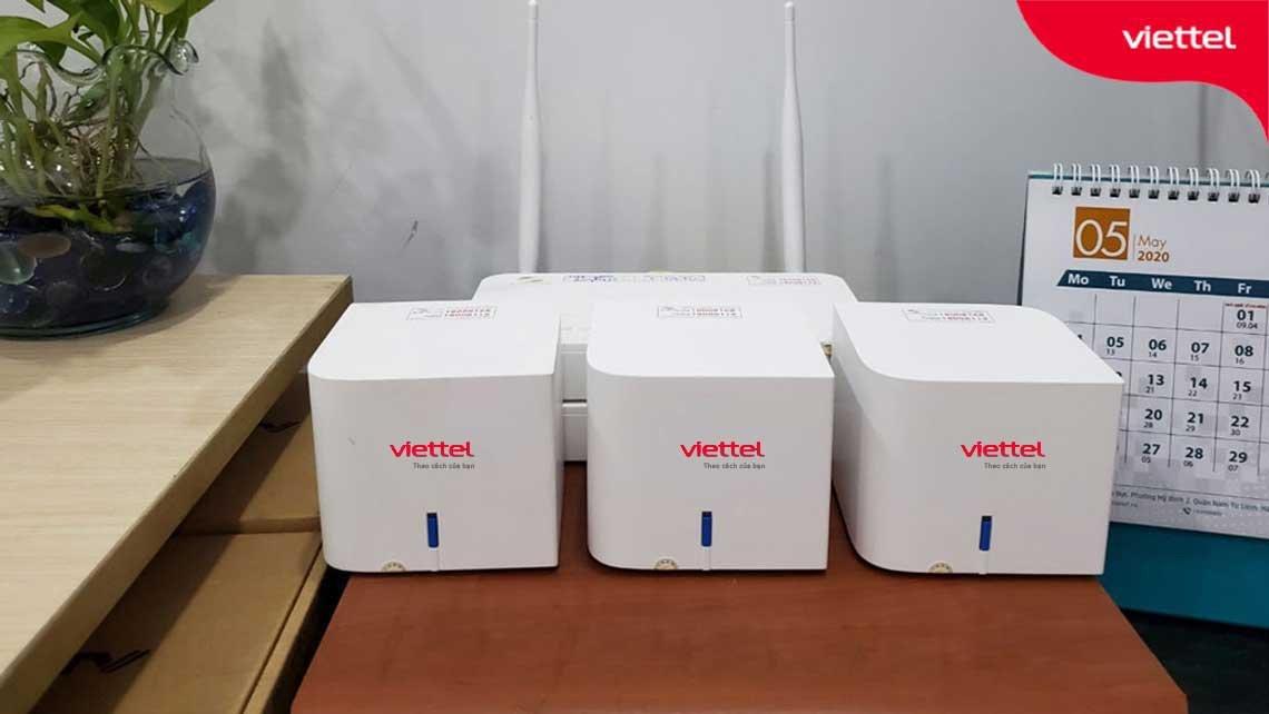 Bộ Home Wifi Viettel H196A với thiết kế nhỏ gọn phù hợp đặt trong nhiều không gian.