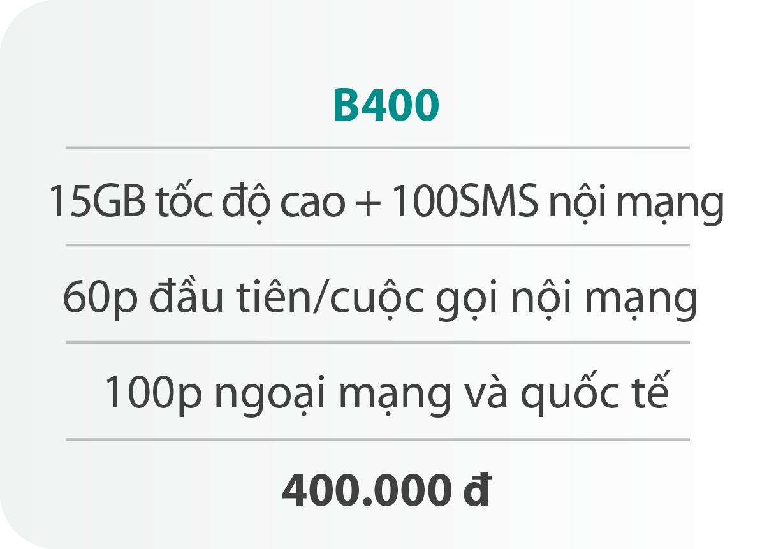 Gói cước B400
