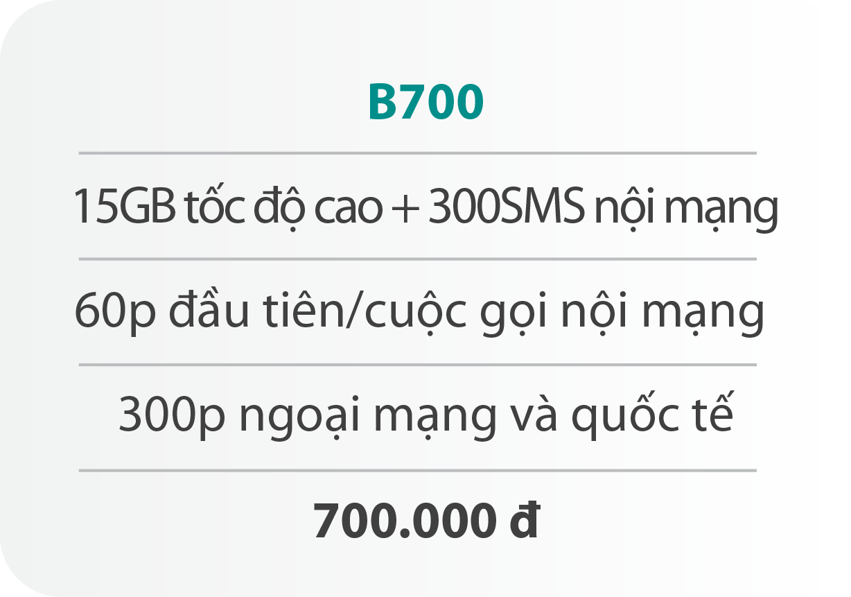 Gói cước B700