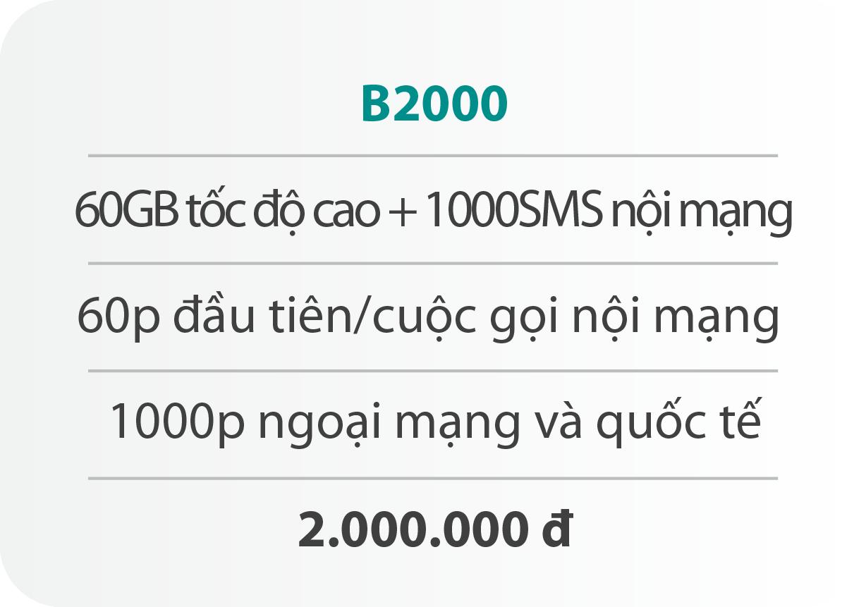 Gói cước B2000